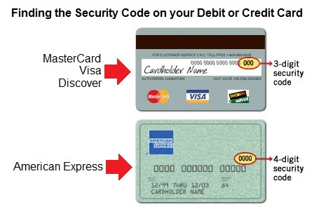 Where Can I Find My Card Security Code Cvv For Credit Billing Transactions